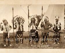 "1911 ""BIG CHIEFS"" Nez Perce & Yakima Indians Astoria Oregon Panoramic Photo 26"""