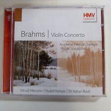 CD BRAHMS violin concerto, Yehudi Menuhin, Rudolf Kempe, Sir Adrian Boult, HMV