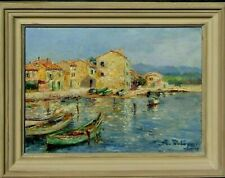 LISTED Georges Lugon OLD French Impressionist Riviera View Oil Painting NO RES.