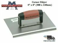 "Marshalltown Cement Concrete Edger Trowel 8"" x 6"" (200 x 150mm) Durasoft Handle"