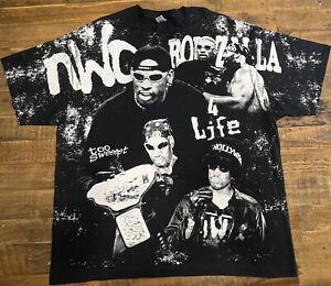 WCW NWO Dennis Rodman Rodzilla All Over Print AOP WWF WWE Size 3XL