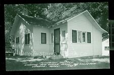 1950's RPPC Butternut Cottage Schram's Red Cedar Lodge Jenkins MN   B1071