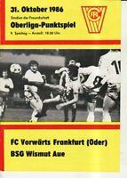 OL 86/87  FC Vorwärts Frankfurt/O. - BSG Wismut Aue