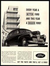 1941 FORD SUPER DE LUXE- Black- Hardtop- Car- 4 Door - Retro  VINTAGE AD