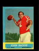 1963 TOPPS #134 JOHN BRODIE EX 49ERS *SBA3565B