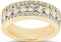 1.25 carat total Round DIAMOND Wedding Ring Anniversary Band 14k Yellow Gold