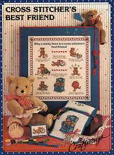 Cross Stitcher's Best Friend Book - Craftways - Teddy Bears - Vintage 1985