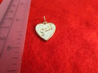 14 KT GOLD PLATED  HEART SHAPED BRUSHED GAIL NAME CHARM PENDANT