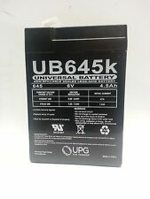 UB645  6volt 4.5ah UPG  SEALED LEAD- ACID BATTERY