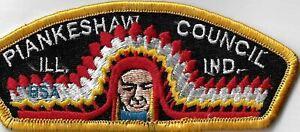 Piankeshaw Council BSA Illinois-Indiana CSP YEL Border [MX-11252]