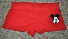 NWT-Jr. Girls Disney Mickey Mouse Red & White Lounge Pajamas Shorts-size XL