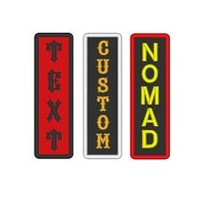 Custom Embroidered Rocker Name Patch Sew on Motorcycle Biker Back Tag 4*1 Badge