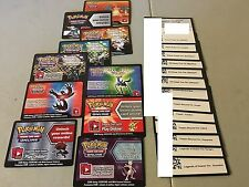 23 Pokemon EX ONLINE CODE CARD LOT New Unused Charizard Mewtwo Xerneas Yveltal
