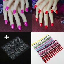Round Shape Tips False Nail Press On With Adhesive Tape Manicure Accessories New