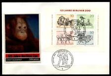 Monos. Berliner Zoo. FDC. Block. W. Berlín 1969