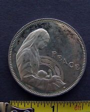 PEACE SILVER MEDAL VIRGIN MARY