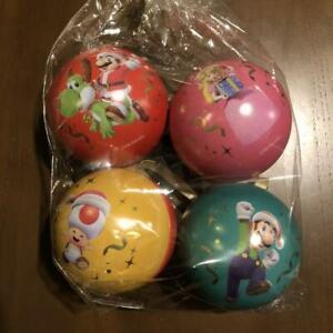 Nintendo TOKYO Super Mario Ornament 4set Japan Peach Luigi Toad SHIBUYA PARCO