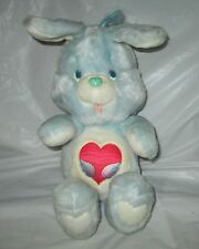 "Swift Heart Rabbit Care Bears Cousins 13"" Stuffed 1984 Kenner Vintage Tv Cartoon"
