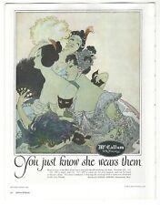 "ART DECO WOMAN MCCALLUM SILK HOSIERY 1920's 8"" X 10"" Repro Magazine Ad AD3"