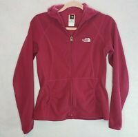 The North Face TKA 100 Womens Ruched Jacket Front Pockets Full Zip Fleece Small