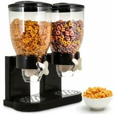 Cereal Dispenser Vending Machine Double Dry Food Storage Container Kitchen Bar