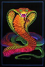 COBRA SNAKE BLACK LIGHT 23x35 poster COLORS BEAUTIFUL DESIGNER NEW DEADLY VENOM!