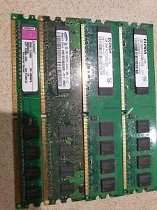 Job Lot 4 x 1GB Desktop Memory  Samsung Kingston and Elpida