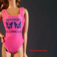 "Handmade~Doll swimwear for 12"" Doll~ Barbie,Move barbie,Tall barbie, Muse barbie"