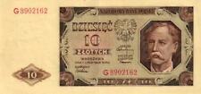 05 Poland / Polen P136a 10 Zlotych 1948 Serie G