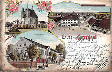 Geithain Schützenhaus Nikolai - Kirche 1908 Postkarte