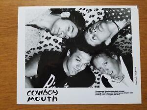 Cowboy Bouche 8x10 Noir et Blanc Press Photo Promotionnel 90's Blues Rock Band