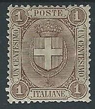 1896-97 REGNO STEMMA 1 CENT LUSSO MH * - T67