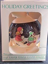 Lynn Gates HORSE NUTCRACKER MOUSE GIRL IN SNOW GLASS BALL ORNAMENT 3 1/2""