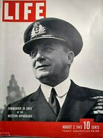 Life Magazine August 2 1943 WW2 Sicily Invasion Photos Max Horton