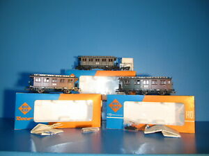 3x Roco H0  Personenwagen der K.P.E.V. No 4210 ; 4211 & 4229 TOP in OVP #3525