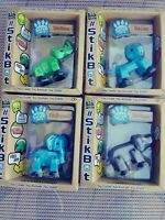 NEW Lot of 4 Stikbot Safari Pets -Different Colored Hippo, Lion,Elephant, Rhino