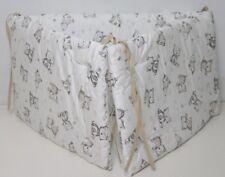 300 cm 290 Bettschlange 100/% Baumwolle Grau // Weiss 150 200 160