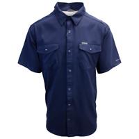 Columbia Men's Navy Utilizer II Solid Short Sleeve Shirt (Retail $60.00)