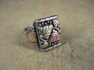 Sterling Silver & 12K Black Hills Gold Ring, WMCo Wheeler, Size 12.75, 9.9g
