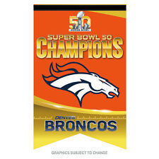 Denver Broncos  Super Bowl 50 Champion 17x26 Premium Banner Ready to Ship