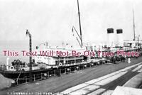KE 1539 - SS Onward At Pier, Folkestone To Boulogne Ferry, Kent - 6x4 Photo