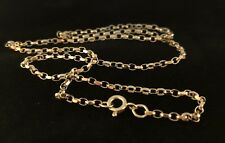 18K GOLD VERMEIL SOLID DIAMOND CUT ENGLISH Ag 925 BELCHER CHAIN 2.3mm Wide 24""