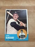 1963 TOPPS #555 JOHN BLANCHARD NY YANKEES— HIGH # BLAZER💥*** (wph)