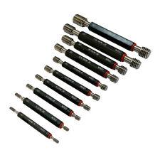 1 Set Of 10 Pcs Plug Gage Gauge Set Double End Go Amp No Go Set Ansi