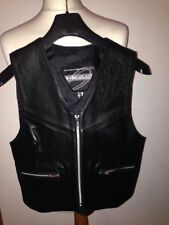 Zip Leather Waistcoats for Women