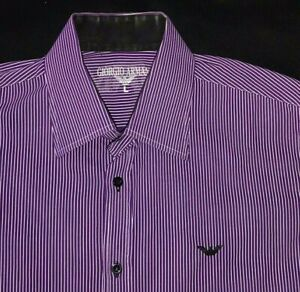 GIORGIO ARMANI AUTHENTIC MADE IN ITALY MENS LARGE LONG SLEEVE DRESS SHIRT