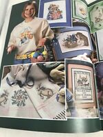 Bunny Rabbit Bunnies Cross Stitch booklet inc Now I lay Me Down TO Sleep