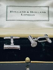 Holland and Holland Cufflinks Silver 925 Shooting/Hunting Cartridges
