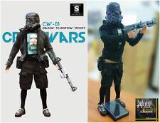 """Suicidetoyz crosswar cw-01 shadow tomorrow trooper 1/6 12"""" Action Figure"""