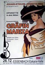 GRÄFIN MARITZA - 2011 - Plakat - Johann-Straus - Operette - Poster - Essenbach
